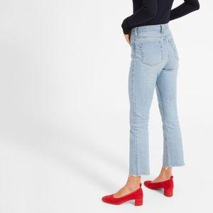 Everlane High Waisted Jean with Raw Hem Size 24